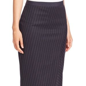 NWT! Weekend MaxMara Pinstriped Pencil Skirt Navy